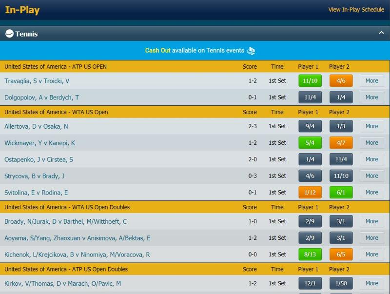 BetBright In-Play